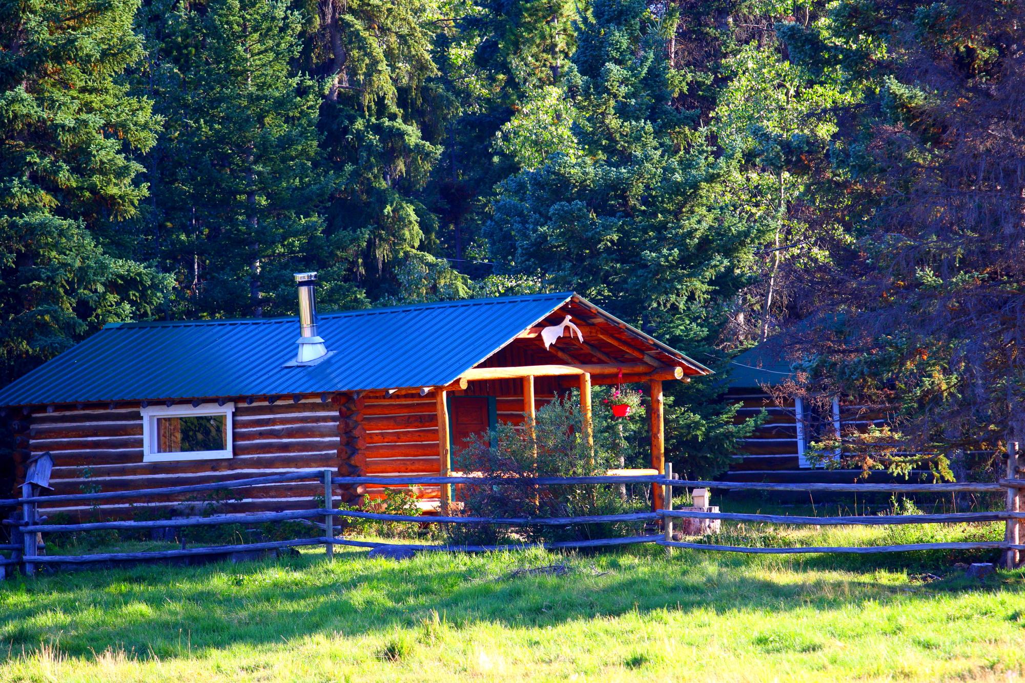 Une cabane au Canada, ranch en Colombie-Britannique
